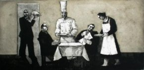 Serving Lunch a limited edition print by Karolina Larusdottir