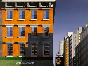 Curry Leaf, Lexington Avenue a limited edition print by Michael Kidd