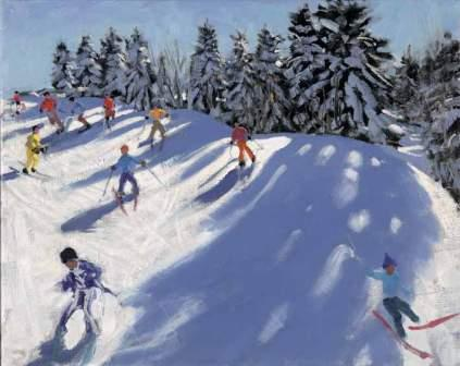 Buy Fresh Snow - art print by artist Andrew Macara