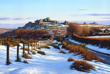 Buy A Winter's day on Dartmoor - art print by artist Brett Humphries