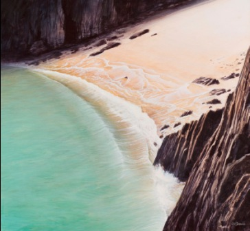 Buy Wave Skrinkle Haven - art print by artist Ceri Auckland Davies