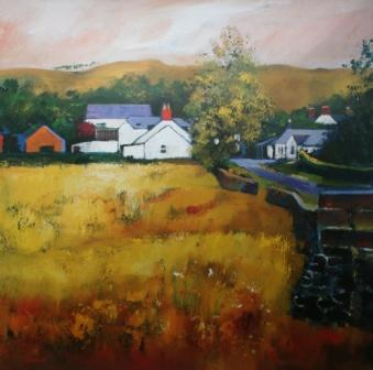 Buy Moniaive Village - art print by artist Davy Brown