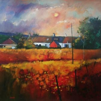 Buy Moonlit Fields - art print by artist Davy Brown