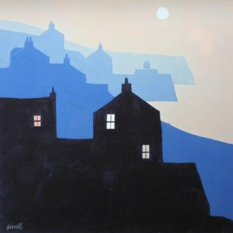 Buy Headlands and Moon - art print by artist George Birrell