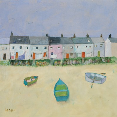 Buy Kippers and Cottages - art print by artist Janet Ledger