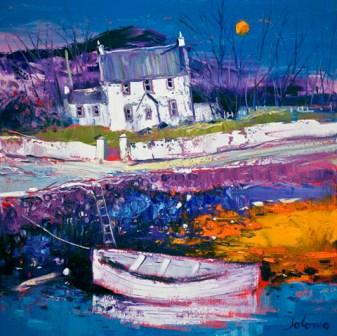 Buy Beached Clinker At Croig - art print by artist John Lowrie Morrison