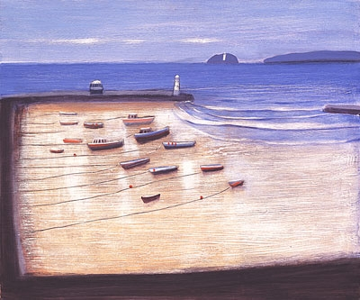 Buy St Ives and Godrevy - art print by artist Jock MacInnes