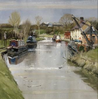 Buy Coot Canal - art print by artist John Lines