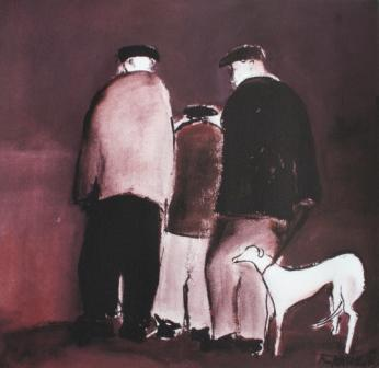 Buy Billy Liddle's Whippet - art print by artist Malcolm Teasdale