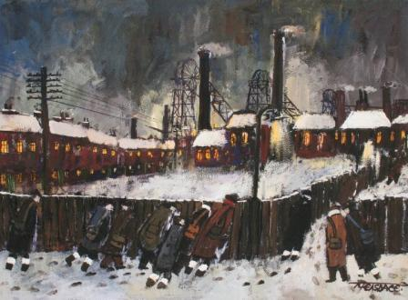 Buy Colliery Lights - art print by artist Malcolm Teasdale