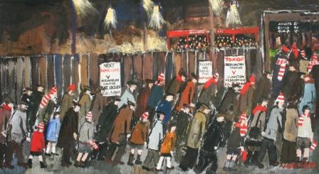Buy Local Supporters - art print by artist Malcolm Teasdale
