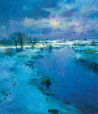 Buy Storm Light On Snow - art print by artist Norman Smith
