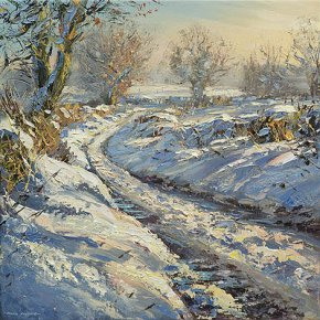 Winters Afternoon, Brailsford a limited edition print by Mark Preston