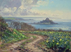 April Morning Mounts Bay a limited edition print by Mark Preston