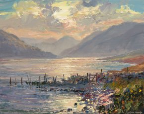 Morning Light (Crummock Water) a limited edition print by Mark Preston