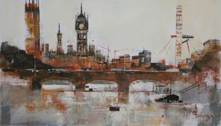 Buy View to Big Ben - art print by artist Nagib Karsan